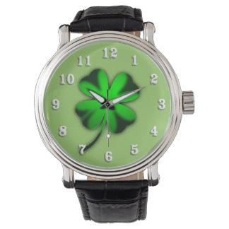 Green Irish Clover Watches