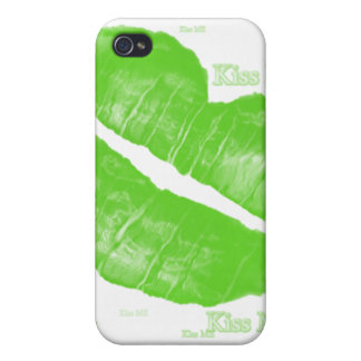 Green Irish Lips - Kiss Me Text Case For The iPhone 4