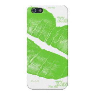 Green Irish Lips - Kiss Me Text iPhone 5 Cases
