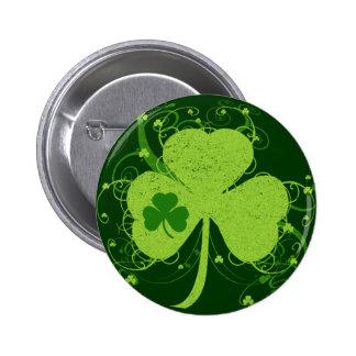 Green Irish Shamrock 2 Inch Round Button