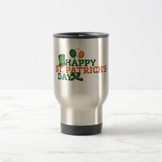 Green Irish Shamrock Happy St. Patrick's Day Travel Mug