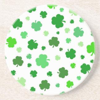 Green Irish Shamrocks Coaster