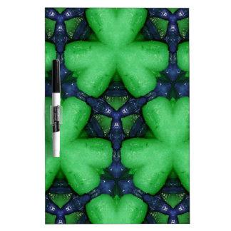 Green Irish Shamrocks Dry Erase Whiteboards