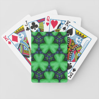 Green Irish Shamrocks Poker Deck
