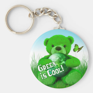 Green is Cool! Keychain