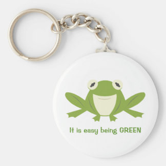Green is Good Basic Round Button Keychain