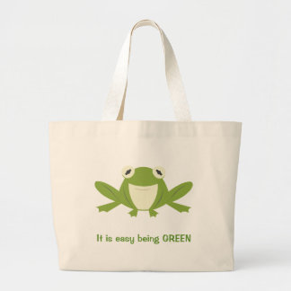 Green is Good Large Tote Bag