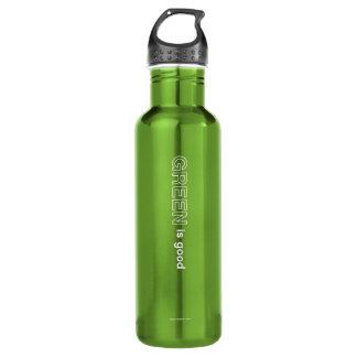 Green Is Good Water Bottle