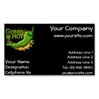 Green is HOT Magnetic Business Card