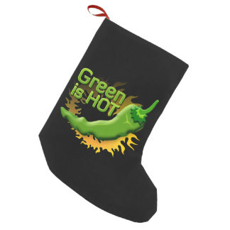 Green is HOT Small Christmas Stocking
