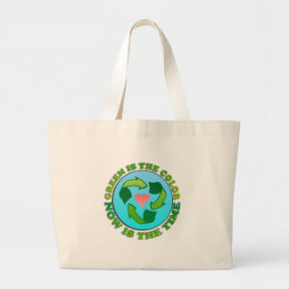 Green is the Color Canvas Tote Bag