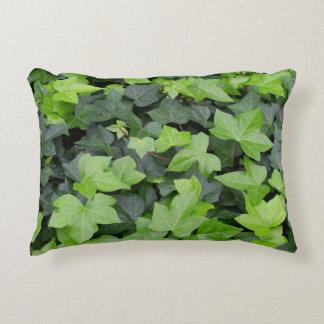Green Ivy Botanical Print Decorative Pillow