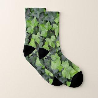 Green Ivy Botanical Print Socks