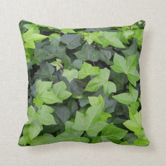Green Ivy Botanical Print Throw Pillow