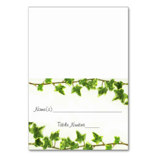 Green Ivy - Escort Table Number Cards