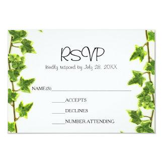 Green Ivy - RSVP Card