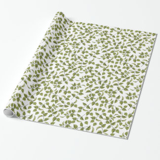 Green Ivy Vine Wrapping Paper