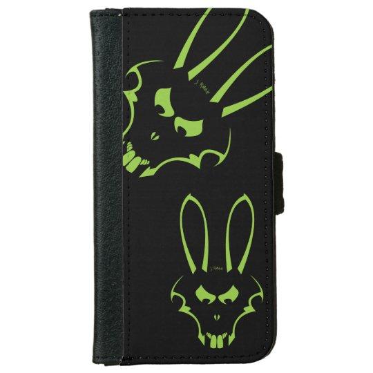 Green J.Rabbit logo Phone Case iPhone 6 Wallet Case