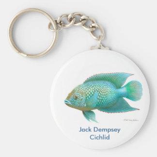 Green Jack Dempsey Cichlid Keychain