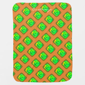 Green Jack o'lantern Halloween Thunder_Cove Baby Blanket