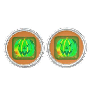 Green Jack o'lantern Halloween Thunder_Cove Cuff Links