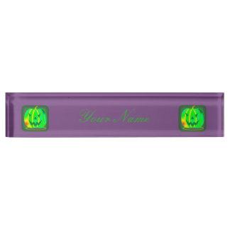 Green Jack o'lantern Halloween Thunder_Cove Name Plate