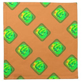 Green Jack o'lantern Halloween Thunder_Cove Napkin