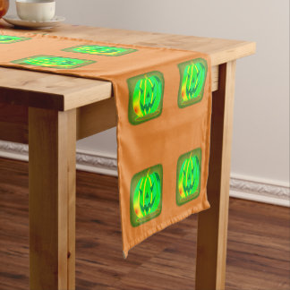 Green Jack o'lantern Halloween Thunder_Cove Short Table Runner
