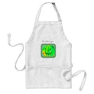Green Jack o'lantern Halloween Thunder_Cove Standard Apron