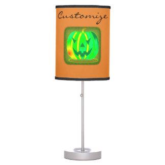 Green Jack o'lantern Halloween Thunder_Cove Table Lamp