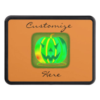 Green Jack o'lantern Halloween Thunder_Cove Trailer Hitch Cover