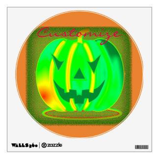 Green Jack o'lantern Halloween Thunder_Cove Wall Decal