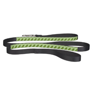 Green Jalapeño Hot Pepper Pattern Peppers Leash