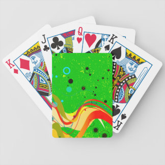 Green Jazz Background Bicycle Playing Cards