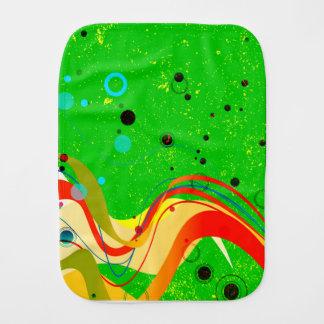 Green Jazz Background Burp Cloth