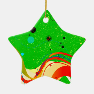 Green Jazz Background Ceramic Ornament