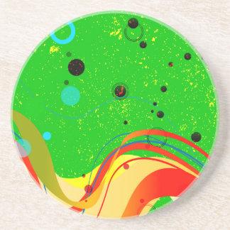 Green Jazz Background Coaster