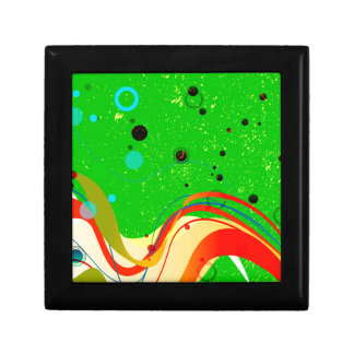 Green Jazz Background Gift Box