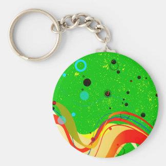Green Jazz Background Keychain