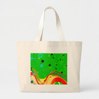 Green Jazz Background Large Tote Bag
