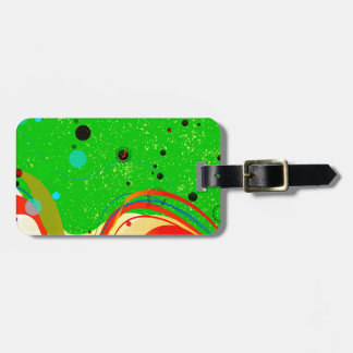 Green Jazz Background Luggage Tag
