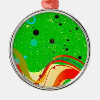 Green Jazz Background Metal Ornament