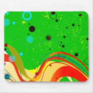 Green Jazz Background Mouse Pad