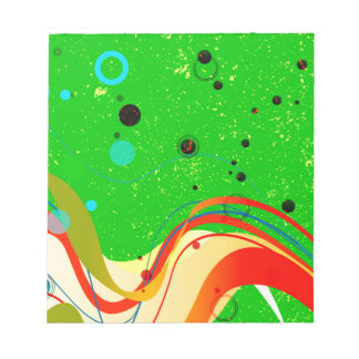 Green Jazz Background Notepad