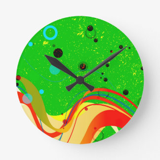 Green Jazz Background Round Clock