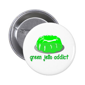 Green Jello Addict 2 Inch Round Button
