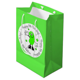 Green Jelly Bean Personalized Birthday Medium Gift Bag