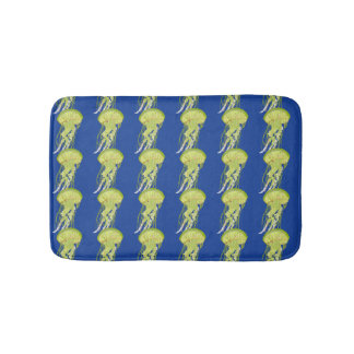 Green Jelly Fish Bath Mat