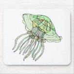 Green Jellyfish Mousepads