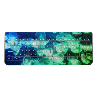Green jellyfish wireless keyboard